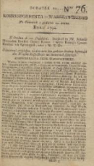 Korrespondent Warszawski, 1792, nr 76, dod