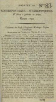 Korrespondent Warszawski, 1792, nr 83, dod