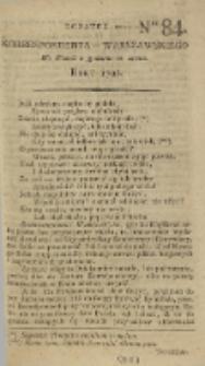 Korrespondent Warszawski, 1792, nr 84, dod