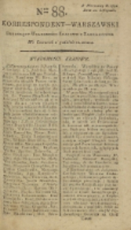 Korrespondent Warszawski, 1792, nr 88