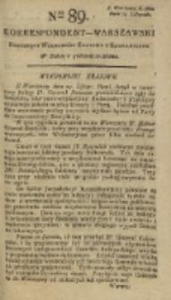 Korrespondent Warszawski, 1792, nr 89