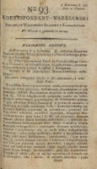 Korrespondent Warszawski, 1792, nr 93