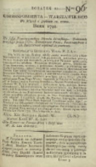 Korrespondent Warszawski, 1792, nr 96, dod