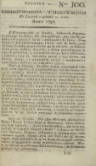 Korrespondent Warszawski, 1792, nr 100, dod
