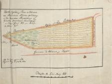 Karta Ogrodu y Placu w Radomiu na Przedmieściu Mliczna położonego a dla Marcina Starońskiego z Gróntow Kościelnych odznaczonego