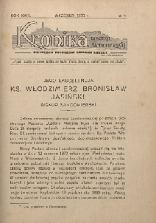 Kronika Diecezji Sandomierskiej, 1930, R. 23, nr 9
