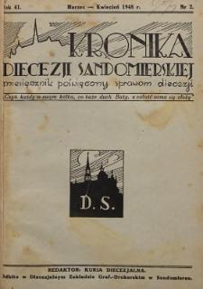 Kronika Diecezji Sandomierskiej, 1948, R. 41, nr 2