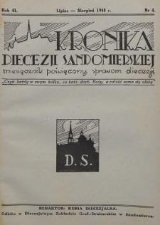 Kronika Diecezji Sandomierskiej, 1948, R. 41, nr 4