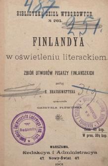Finlandya w oświetleniu literackiem : zbiór utworów pisarzy finlandzkich