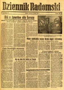 Dziennik Radomski, 1944, R. 5, nr 39