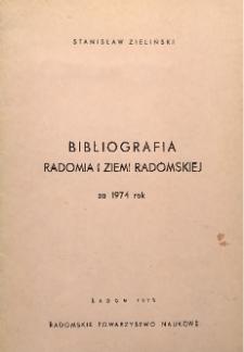 Bibliografia Radomia i Ziemi Radomskiej za 1974