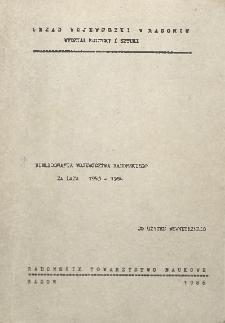 Bibliografia województwa radomskiego za lata 1983-1984