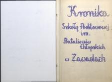 Kronika Szkoły Podstawowej im. Batalionów Chłopskich w Starych Zawadach za lata 1938/1989