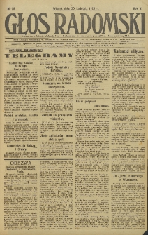 Głos Radomski, 1920, R. 4, nr 58