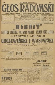 Głos Radomski, 1920, R. 4, nr 84