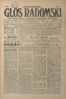 Głos Radomski, 1919, R. 4, nr 66