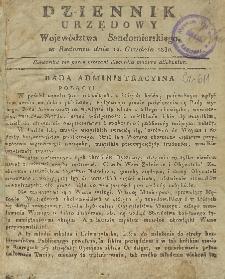 Dziennik Urzędowy Województwa Sandomierskiego, 1830, nr 1