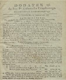 Dziennik Urzędowy Województwa Sandomierskiego, 1830, nr 1, dod. II