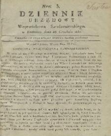 Dziennik Urzędowy Województwa Sandomierskiego, 1830, nr 3