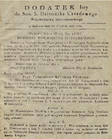 Dziennik Urzędowy Województwa Sandomierskiego, 1830, nr 3, dod. I