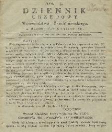 Dziennik Urzędowy Województwa Sandomierskiego, 1831, nr 4