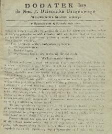 Dziennik Urzędowy Województwa Sandomierskiego, 1831, nr 4, dod. I