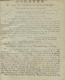 Dziennik Urzędowy Województwa Sandomierskiego, 1831, nr 6, dod.
