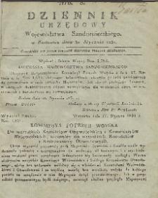 Dziennik Urzędowy Województwa Sandomierskiego, 1831, nr 8