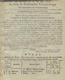 Dziennik Urzędowy Województwa Sandomierskiego, 1831, nr 8, dod. I
