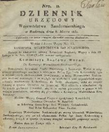 Dziennik Urzędowy Województwa Sandomierskiego, 1831, nr 11