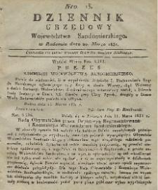 Dziennik Urzędowy Województwa Sandomierskiego, 1831, nr 13