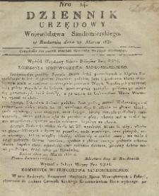 Dziennik Urzędowy Województwa Sandomierskiego, 1831, nr 14