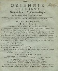 Dziennik Urzędowy Województwa Sandomierskiego, 1831, nr 15