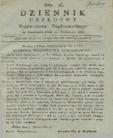 Dziennik Urzędowy Województwa Sandomierskiego, 1831, nr 16