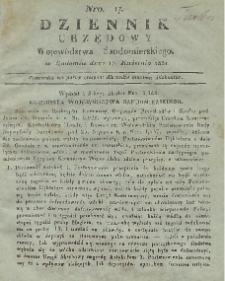 Dziennik Urzędowy Województwa Sandomierskiego, 1831, nr 17