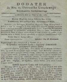 Dziennik Urzędowy Województwa Sandomierskiego, 1831, nr 17, dod.