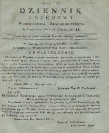 Dziennik Urzędowy Województwa Sandomierskiego, 1831, nr 18