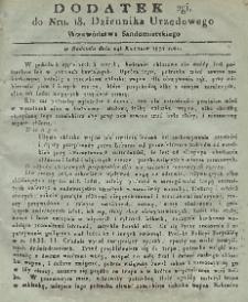Dziennik Urzędowy Województwa Sandomierskiego, 1831, nr 18, dod.II
