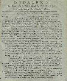Dziennik Urzędowy Województwa Sandomierskiego, 1831, nr 18, dod.III