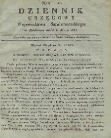 Dziennik Urzędowy Województwa Sandomierskiego, 1831, nr 19