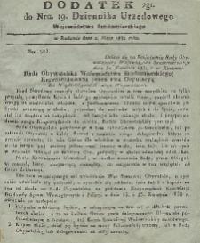 Dziennik Urzędowy Województwa Sandomierskiego, 1831, nr 19, dod.II