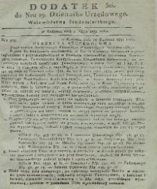 Dziennik Urzędowy Województwa Sandomierskiego, 1831, nr 19, dod.III