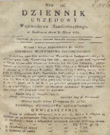 Dziennik Urzędowy Województwa Sandomierskiego, 1831, nr 20