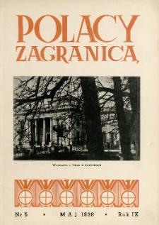 Polacy Zagranicą : Organ Światowego Związku Polaków z Zagranicy, 1938, R. 9, nr 5