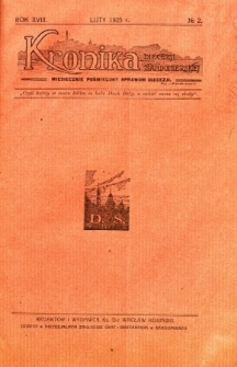 Kronika Diecezji Sandomierskiej, 1925, R. 18, nr 2