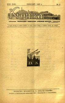 Kronika Diecezji Sandomierskiej, 1925, R. 18, nr 4