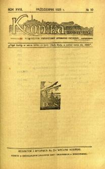 Kronika Diecezji Sandomierskiej, 1925, R. 18, nr 10