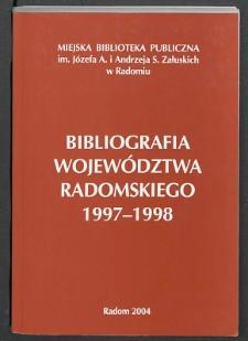 Bibliografia Województwa Radomskiego 1997-1998